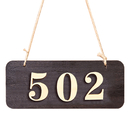 Aspire Customized Home Address Sign, House Hotel Number Sign, Personalized Store Message Sign with Hanging String