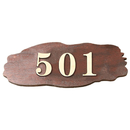 Aspire Customized Home Address Sign, Personalized Wooden House Hotel Number Sign
