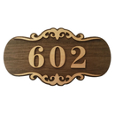 Aspire Customized Home Address Sign, Wooden House Hotel Office Number Sign, Personalized Address Plaque Sign