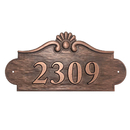 Aspire Personalized Metal House Number Sign, Customized Address Plaque, Allows Numbers Letters Special Characters