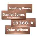 Aspire Customized Name Plate for Door, Office, Wall, Stainless Steel House Number Sign