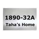 Aspire Personalized House Number Sign, Customized Stainless Steel Wall Sign