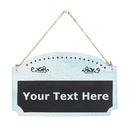 Aspire Customized Decorative House Cafe Store Message Sign, Personalized Double Sided Wooden Sign with Hanging String