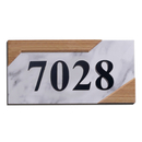 Aspire Personalized House Number Plaque, Acrylic Number Sign for Hotel Apartment Office