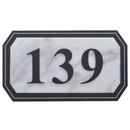 Aspire Personalized House Address Plaque, Customized Acrylic Hotel Apartment Number Signs, Small Size, Marble Pattern