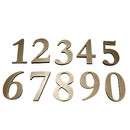(Pack of 2PCS) TeeVoo 4 inches Metal House Number Address Plaque,  Self-Adhesive Number 0 to 9
