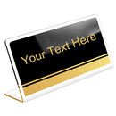 Muka Personalized Office Name Plate Acrylic Showcase Desk Sign