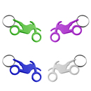 Aspire Motorcycle Shape Bottle Opener with Key Chain, 2 1/2