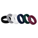 Muka 6PCS/PACK Silicone Wedding Ring for Men Premium Rubber Wedding Bands Safe&Sturdy - 8.7mm Wide & 2mm Thick