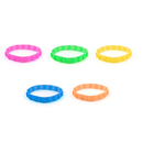 (Price/10 Pcs) GOGO Embossed Star / Love Heart Silicone Wristband, Rubber Bracelets, Party Favors, 8