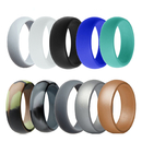 GOGO Silicone Wedding Ring Bands Pro-Athletic Rubber Bands for Active Men Women