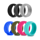 GOGO Premium Sports Silicone Rings Wedding Bands for Man and Woman - 8.5mm Wide