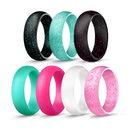 GOGO Silicone Wedding Ring for Women, Affordable Silicone Rubber Wedding Bands