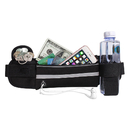 Opromo Reflective Waterproof Running Belt Fanny Pack with Water Bottle Holder