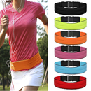 Opromo Unisex Adjustable Running Belt Wait Pack Elastic Slim Fanny Pack for Runners Cycling Workouts Gym Sports Travel Exercise - Fits All Phone Models