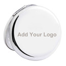 Custom 2 3/4 Inch Compact Mirror / Pocket Mirror With Embeded Diamonte, Foldable & Double Sides Makeup Mirror, Metal