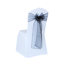 ASPIRE Organza Chair Sash Bows, Untied, 108 x 6 inches, Wholesale