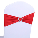 ASPIRE Wholesale Wedding Chair Cover Band with Heart Buckle, 5-1/2 x 14 Inches