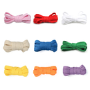 TopTie 100 Pairs Wholesale Flat Shoelaces, Various Colors Different Sizes for All Type of Shoes