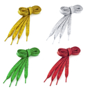 TopTie 100 Pairs Wholesale Metallic Lurex Flat Shoelaces, Fashion Bling Special Colors Shoelaces