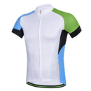 Blank Men's Short Sleeve Cycling Jersey Full Zip Moisture Wicking, Breathable Running Top - Bike Shirt