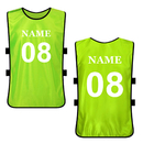 TOPTIE Custom Soccer Pinnies Scrimmage Vest Personalized Team Practice Jersey (Add Your Name / Number)