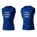 TopTie Custom Mens Compression Sleeveless Base Layer, Personalized Athletic Workout T-Shirt