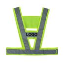 Custom GOGO V Shape Reflective Vest, High Visibility Safety Vest for Jogging / Cycling / Walking, Running Gear