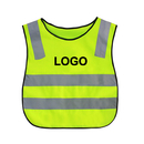 Custom GOGO Children Reflective Running Vest / Safety Vests With Elastic Waistband