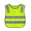 Blank GOGO Kid Reflective Running Vest / Safety Vests With Elastic Waistband, Preschool Uniforms