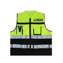Custom GOGO Pocket Safety Vest With Reflective Tape, Zipper Reflective Safety Vest