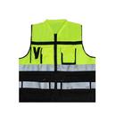 Blank GOGO Pocket Safety Vest With Reflective Tape, Zipper Reflective Safety Vest