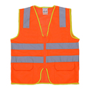 Blank GOGO High Visibility Ultra Cool Mesh Surveyor Safety Vest with Reflective Strips & Pockets, Motorcycle, Bike Safety, Public Safety, Security Guard Safety Equipment