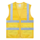 GOGO Blank Adult Mesh Volunteer Vest High Visivility Zipper Front Safety Vest with Reflective Strips and Pockets