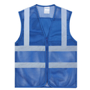 GOGO Blank Kid's Mesh Safety Vest Volunteer Activity Vest with Reflective Strips, High Visivility Reflective Running Vest