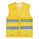GOGO Blank Unisex 2 Pockets High Visibility Zipper Front Breathable Safety Vest with Reflective Strips