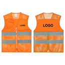 GOGO Custom Unisex High Visibility Zipper Front Mesh Safety Vest with Reflective Strips
