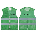 GOGO Custom Kid's Mesh Reflective Vest For Outdoors Sports, Running Safety Vest with Zipper