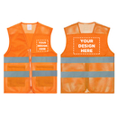 GOGO Custom Safety Vest, Add Logo/ Company, High Visibility Volunteer Vest with Reflective Strips