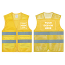 GOGO Personalized Yellow High Visibility Mesh Safety Vest with Logo Printing, Custom Safety Vest