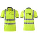 GOGO Custom Men's Polo Shirts Hi Vis Short Sleeve Safety Work-wear Shirt