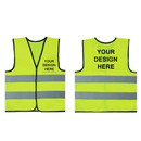 GOGO 10 Pack Customized Child Reflective Vest For Outdoors Sports, Personalized Safety Vest Preschool Uniforms