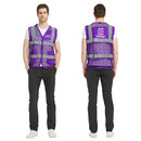 GOGO Custom Unisex US Big Mesh Volunteer Vest Personalized Safety Vest with Reflective Strips and Pockets