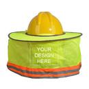 Customized Full Brim Hard Hat Sunshade Visor Neck Shield, Add Your Logo High Visibility Sun Shield