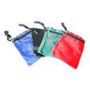 GOGO Blank Zippered Golf Tee Pouch, Nylon Golf Accessory Bag With Hook And String