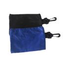 GOGO Blank Golf Valuables Pouch, Accessory Bag With Zipper And Hook, Nylon Tool Pouch