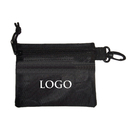 GOGO Custom Golf Tee Case Black, Small Pouch Bag With Zipper, Golf Player Pouch