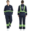 TOPTIE Add Your Own Custom Text Name Personalized Message or Image Men's Reflective Trim Coverall