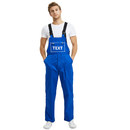 TOPTIE Custom Men's Bib Overall Royalblue, 8.5 oz Work Uniform Overall with Tool Pockets, Work Cargo Pants