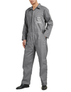 TOPTIE Custom Logo Basic Coverall for Men Gray Coverall Zip-Front Closure, Add Your Own Text and Images Workwear